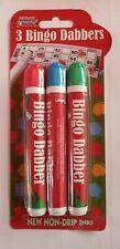 3 x Bingo Dabbers Marker Pens Mixed Colours - Non Drip Ink Dabbers set