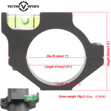 Vector Optics 25mm 1 Inch Mount Rings Anti Cant Rifle Scope Bubble Level
