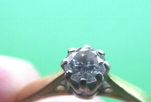 SUPERB 18CT GOLD DIAMOND SOLITAIRE RING SIZE K .23CT