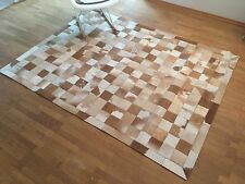 Patchwork Teppich aus buntem Kuhfell cowhide - 150 cm x 200 cm, NEU, RUG