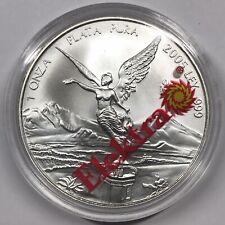 2005 Mexico Libertad 1 oz silver round BU Grupo Elektra capsule - 1 onza plata