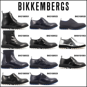 BIKKEMBERGS Uomo/Donna - anfibi stivaletti e scarpe in pelle con suola in gomma