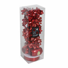 Christmas 13 Piece Gift Pack of Bows & Ribbons - Red