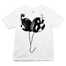 Huge Hanging Headphones Youth T-Shirt DJ Music Tee