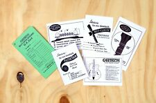Vintage Gretsch Guitar Case Candy Info Cards for Non-Standby Switch Models