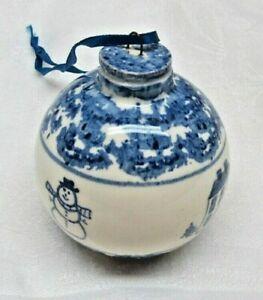 Porcelain Folk Art Christmas Ornament