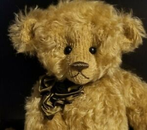 MAC POHLEN MOHAIR BEAR 18 INCH FULLY JOINTED WITH DISNEY PIN NO RESERVE
