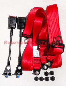 Cinture di Sicurezza Statiche Rosse FIAT 500 F L R  ABI20