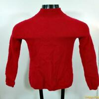PRIVE Mockneck CASHMERE L/S Sweater Womens Size M Red