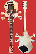 Skull and Crossbones Guitar (Solid Body Archtop)