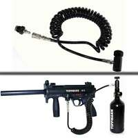 Paintball Air Line On/Off Coil Remote Hose Coiled Thick w/ QD E Tippmann A5 part