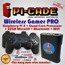 RetroPie PiCade Wireless Gamer Pro KODI SNES PSX N64 MAME Raspberry Pi3 32GB