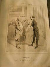 HD 1159 - DAUMIER 1843 The Human Comedy No.33.8oz'entrance in La vie