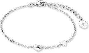 s.Oliver Damen Armband mit Herz Anhänger, 925er Sterling Silber 2017226