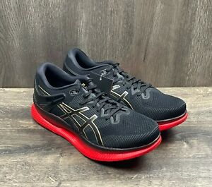 Asics MetaRide Black Classic Red Running Shoes Men's Sz 10.5 1011A142 $250 MSRP
