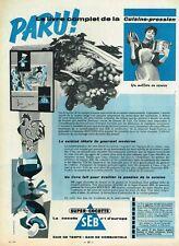 F- Publicité Advertising 1958 Autocuiseur super cocotte SEB