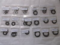 10 X NITRILE WATCH O RING GASKETS SEALS RUBBER WASHERS SIZES  12 MM - 30 MM