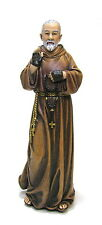 Statue St Padre Pio 6 inch Painted Resin Figurine Patron Joseph Studio Catholic