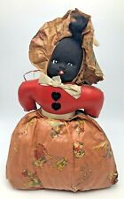 Vintage Topsy and Eva Oilcloth Body Painted Cloth Face Doll Double Sided