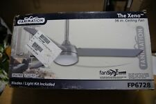 Fanimation Xeno -56 in-Brushed Nickel with Brushed Nickel Blades & LED Light Kit