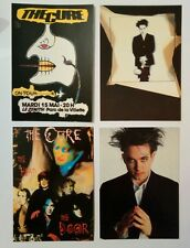 4 carte postale The Cure Robert Smith