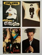 4 cartes postales The Cure Robert Smith