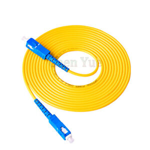 10Pcs 1M SC UPC to SC UPC Simplex 3.0mm PVC Single Mode Fiber Patch Cable Jumper