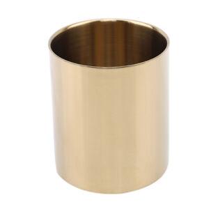 Nordic Rose Gold Vase Stainless Steel Cylinder Pen Holder For Desk Organizers BM