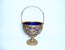 Rare Coupe en argent avec langue source Insert verre doré À 1900 Pologne