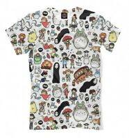 Studio Ghibli Movies T-Shirt, Totoro Spirited Away Tee, Men's Women's Sizes