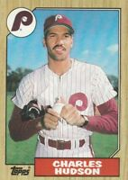 FREE SHIPPING-MINT-1987 Topps #191 Charles Hudson Phillies