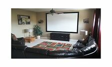 Movie Theater Screen Pro Fixed Frame Projection Screen 100X60 By Visual Apex