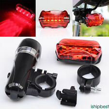 5 LED Bycicle lights Front Rear Head Light+Taillight Flashlight Lamp Shockproof