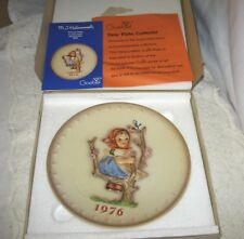 M J Hummel Goebel Bas Relief Annual Collectors Plate~Spring