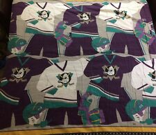 Vtg Anaheim Mighty Ducks Comforter Twin Bed Blanket NHL Hockey 90's