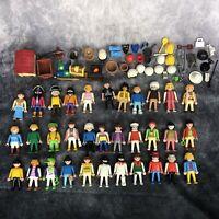 Playmobil Huge Job Lot Bundle Figures x 33 & Accessories Vintage 1990 + Toys