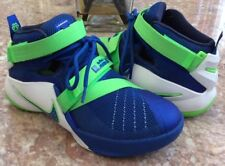 new product 63f9c 93725 Nike Lebron Soldier IX GS Kid Blue Green Basketball Shoes Sz 7Y  776471-441