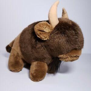Dakin Buffalo Bill Bison Plush Stuffed Animal Vintage 1984 Brown Western