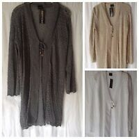 NEW LADIES CROCHET KNIT STYLE SUMMER LIGHTWEIGHT LONG SLEEVE CARDIGAN COVER UP