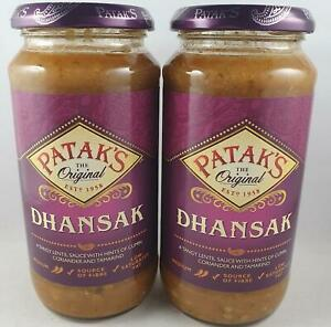 2 x Jars Of Pataks Dhansak Curry Sauce 450g