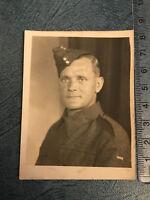 Photograph Vintage WWII Portrait Of Soldier In Uniform