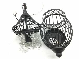 Black Chandeliers Globe Crystal Chandelier Lighting Farmhouse Lighting Fixtures