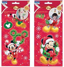 Childrens 2 Packs Christmas Reusable Sticker Set Mickey Mouse