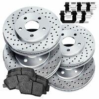 Fit Subaru XV Crosstrek Forester Front  Blank Brake Rotors+Ceramic Brake Pads