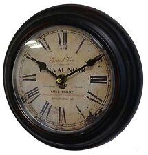 style ancienne horloge style bar bistro usine industriel loft en metal fer 21cm