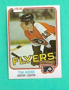 (1) TIM KERR 1981-82 O-PEE-CHEE # 251 FLYERS  ROOKIE EX-MT CARD (V0420)