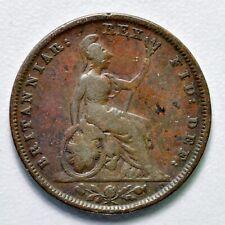 GB GEORGE IV COPPER FARTHING 1828 ++ SHARP GRADE!! ++ [970-11]