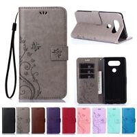PU Leather Magnetic Flip Wallet Card Case Cover For LG G5 G6 K4 K8 K10 2017