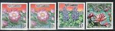 CAMBODIA Sc 231-33 + 231a NH set 1970 - Flowers w/ additional error stamp