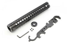 15 Inch Extended Length One Piece Handguard+.223/5.56 Front End Cap+Wrench Tool